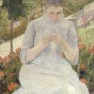 Cassatt - Girl in the Garden - A3 Paper Print