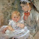 Julie with her nurse by Morisot - 30x40 IN Canvas