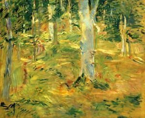 Forest of Compiegne by Morisot - 30x40 IN Canvas