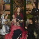 Hans Memling - The Virgin and Child with an Angel - A3 Paper Print