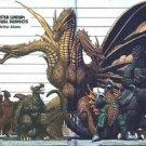 Vinteja charts of - Monster Size Comparison - A3 Paper Print