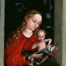 Madonna and Child in a window (1485-1490) - 24x18 IN Poster