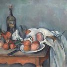 Still Life with Onions and Bottle, 1895 - 24x32 IN Canvas