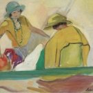 Two Young Women on the Beach, 1920-22 - Poster (24x32IN)