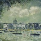 The Seine with the Institute of France, 1877 - A3 Poster