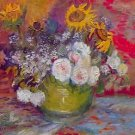 Still-life with roses and sunflowers by Van Gogh - 30x40 IN Canvas