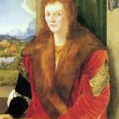 Portrait of an unknown in Red by Durer - 24x18 IN Canvas
