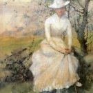 Spring (aka The Artist's Sister), 1885 - 24x18 IN Canvas