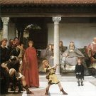 The education of children Clovis, detail by Alma-Tadema - A3 Poster