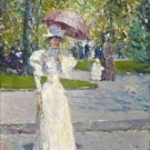Woman with a Parasol in a Park, 1891 - 24x18 IN Canvas