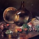 Still Life - Brass and Glass, 1888 - 24x18 IN Canvas