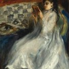 Young Woman in White Reading, 1873 - 24x32 IN Canvas