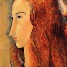 Modigliani - Portrait of Jeanne Hebuterne [5] - Poster (24x32IN)