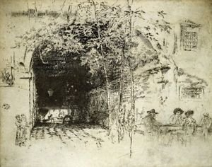 The Traghetto No 2 by Whistler - 24x18 IN Canvas