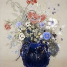 Vase of Blue Flowers, 1905-08 - 24x18 IN Canvas