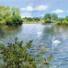 A Long Island Lake, 1890 - 24x32 IN Canvas