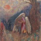 Odilon Redon - Jacob and the Angel - A3 Paper Print