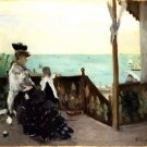 1874 In a villa at the edge of the sea - A3 Poster