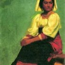 Costume study of a seated woman by Bierstadt - Poster (24x32IN)