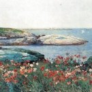 Poppies, Isles of Shoals [1] by Hassam - Poster (24x32IN)