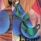 Glass, cup and newspaper by Juan Gris - 24x32 IN Canvas