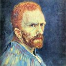 Self-Portrait with short hair by Van Gogh - 24x32 IN Canvas