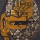 Juan Gris - Guitar and Glasses - A3 Paper Print