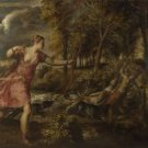 Titian - The Death of Actaeon - A3 Paper Print