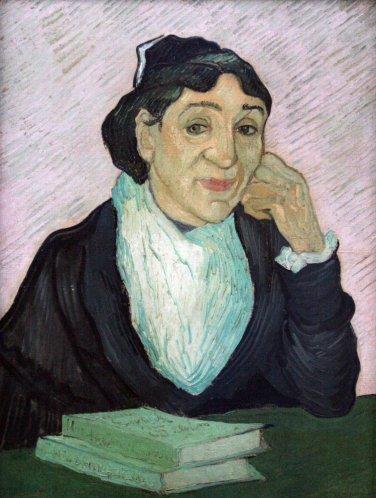 Portrait of Madame Ginoux by Van Gogh - 24x18 IN Canvas