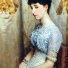 Portrait of Alice Lewis by Alma-Tadema - 24x18 IN Canvas