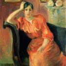 Portrait of Jeanne Pontillon by Morisot - 24x18 IN Canvas