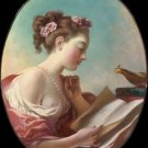 Girl reading (late 1770s) - 24x18 IN Poster