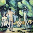 Bathers 3 by Cezanne - 24x18 IN Poster
