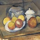 Straw-Trimmed Vase, Sugar Bowl and Apples, 1890-93 - A3 Poster