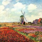 Tulips of Holland by Monet - 24x32 IN Canvas