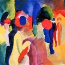 With yellow jacket by August Macke - Poster (24x32IN)