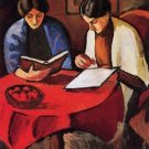 Two women at the table by August Macke - Poster (24x32IN)