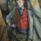 Cezanne - Boy in a Red Waistcoat - 24x18 IN Canvas