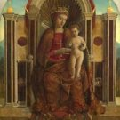 Gentile Bellini - The Virgin and Child Enthroned - A3 Paper Print