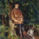 Alfred Berard and His Dog, 1881 - A3 Poster