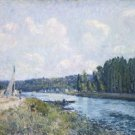 Banks of the Oise, 1877 - 30x40 IN Canvas