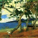 Beach Scene 2 by Gauguin - A3 Poster