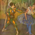 Harlequin and Columbine by Degas - A3 Poster