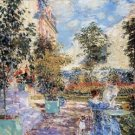 In a French garden by Hassam - A3 Poster