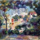 Landscape with a view of the Sacred Heart by Renoir - 24x32 IN Canvas