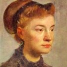 Portrait of a young Lady by Degas - 24x32 IN Canvas