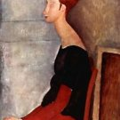 Modigliani - Portrait of Jeanne Hebuterne in dark clothes - A3 Poster