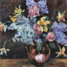 Roses, lilacs and daffodils by Lovis Corinth - A3 Poster