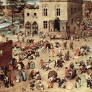 Child's play by Pieter Bruegel - Poster Print (24 X 18 Inch)