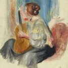 Woman with Guitar, 1895-97 - 24x18 IN Poster